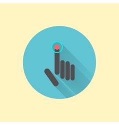 click icon with shadow vector image vector image