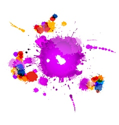 Colorful Splashes Abstract Background vector image vector image