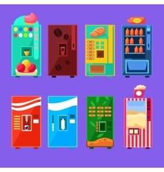 Food And Drink Vending Machines Design Set vector image