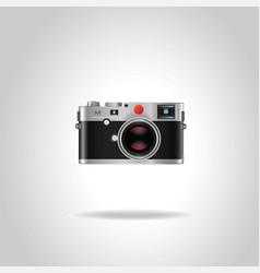 realistic vintage retro photo camera vector image