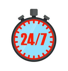 24 hours open stopwatch vector image vector image