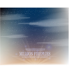 abstract million fireflies on the sky backg vector image