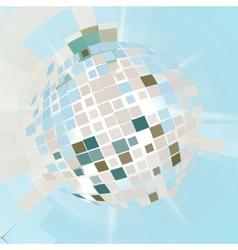 Disco ball explosion vector image vector image
