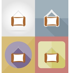 wooden board flat icons 06 vector image vector image