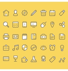 finance icons business icons set vector image vector image