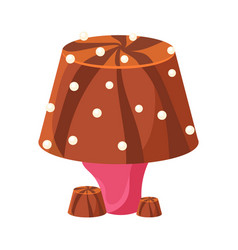 table lamp made of chocolate colorful cartoon vector image vector image