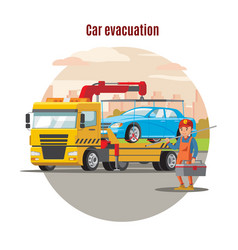 Transport evacuation service template vector