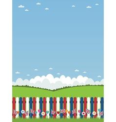uk picket fence vector image