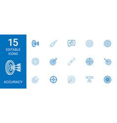 15 accuracy icons vector