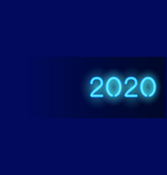 2020 horizontal banner dark blue vector image