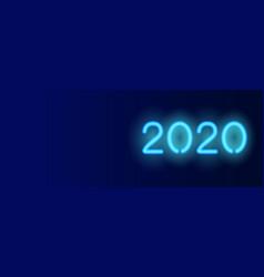 2020 horizontal banner dark blue vector