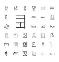 33 room icons vector