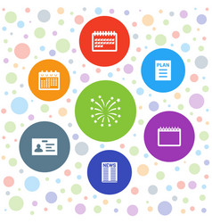 7 event icons vector