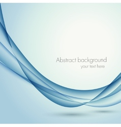 Abstract wavy background in blue color vector