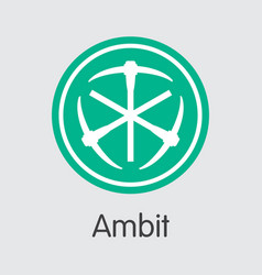 Ambit cryptographic currency ambt web icon vector