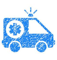 ambulance car grunge icon vector image