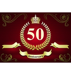 Anniversary or Birthday Card vector image