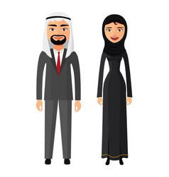 arab couple man and woman together in vector image