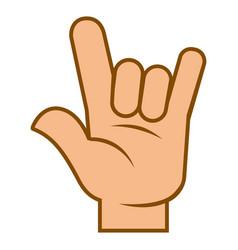 Arm body language symbol hand devil horns vector