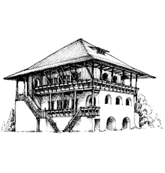 Artistic sketch of house vector