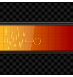 Background with heart pulse monitor vector image vector image