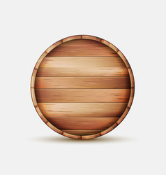 barrel wooden sign wooden barrel signboard vector image