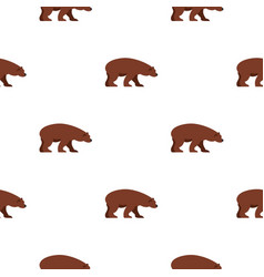 bear pattern seamless vector image