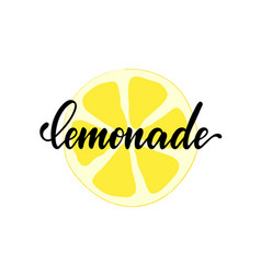 Black and white lettering inscriptions lemonade vector