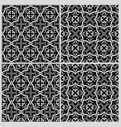 Black and white patterns 2 vector