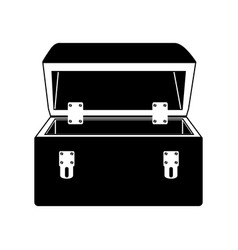 Black silhouette with tool box vector