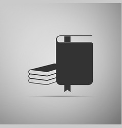 book icon isolated on grey background flat design vector image