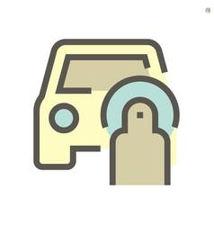 Car rubbing machine icon design 48x48 pixel vector