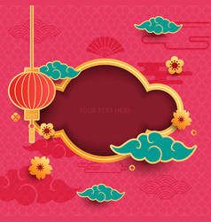 chinese decorative background vector image