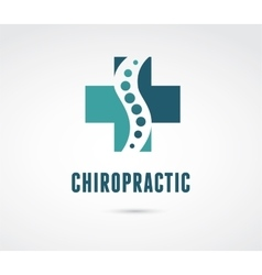 Chiropractic massage back pain icon vector