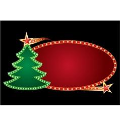 christmas neon vector image