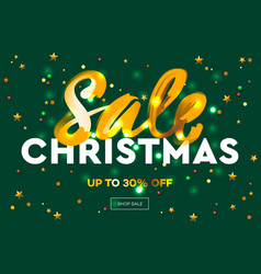 christmas sale web banner e-commerce online shop vector image