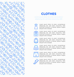 clothing concept in circle with thin line icons vector image