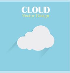 cloud design template cloud blue background vector image