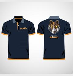 color men polo shirts design template vector image