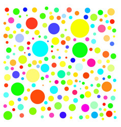 Colorful circles on white background vector