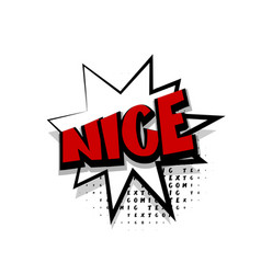 comic text nice white cartoon cloud vector image
