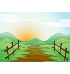 Countryside landscape background vector image