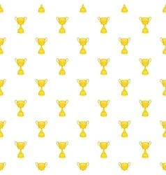 Cup football pattern cartoon style vector