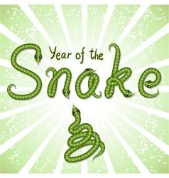 Cute snake symbol of 2013 year vector image
