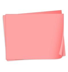 Empty pink bondpapers vector image vector image
