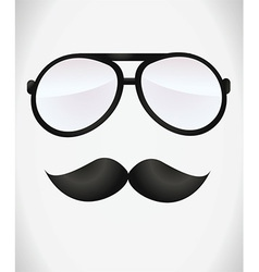 Fancy man with glasses vector