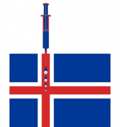Financial support for Iceland vector