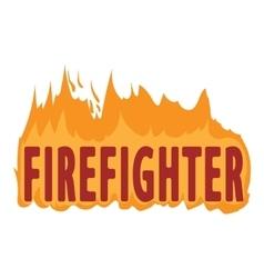 Fire logo cartoon style vector