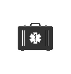 First aid box and medical symbol emergency vector