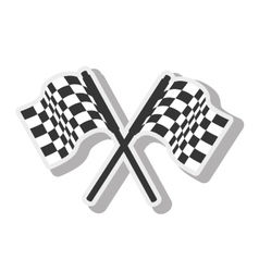 flag car race design isolated vector image